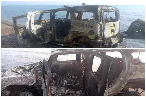 """Mister shkaku, fuoristrada gjendet e djegur te """"Rana e Hedhun"""" në Shëngjin"""