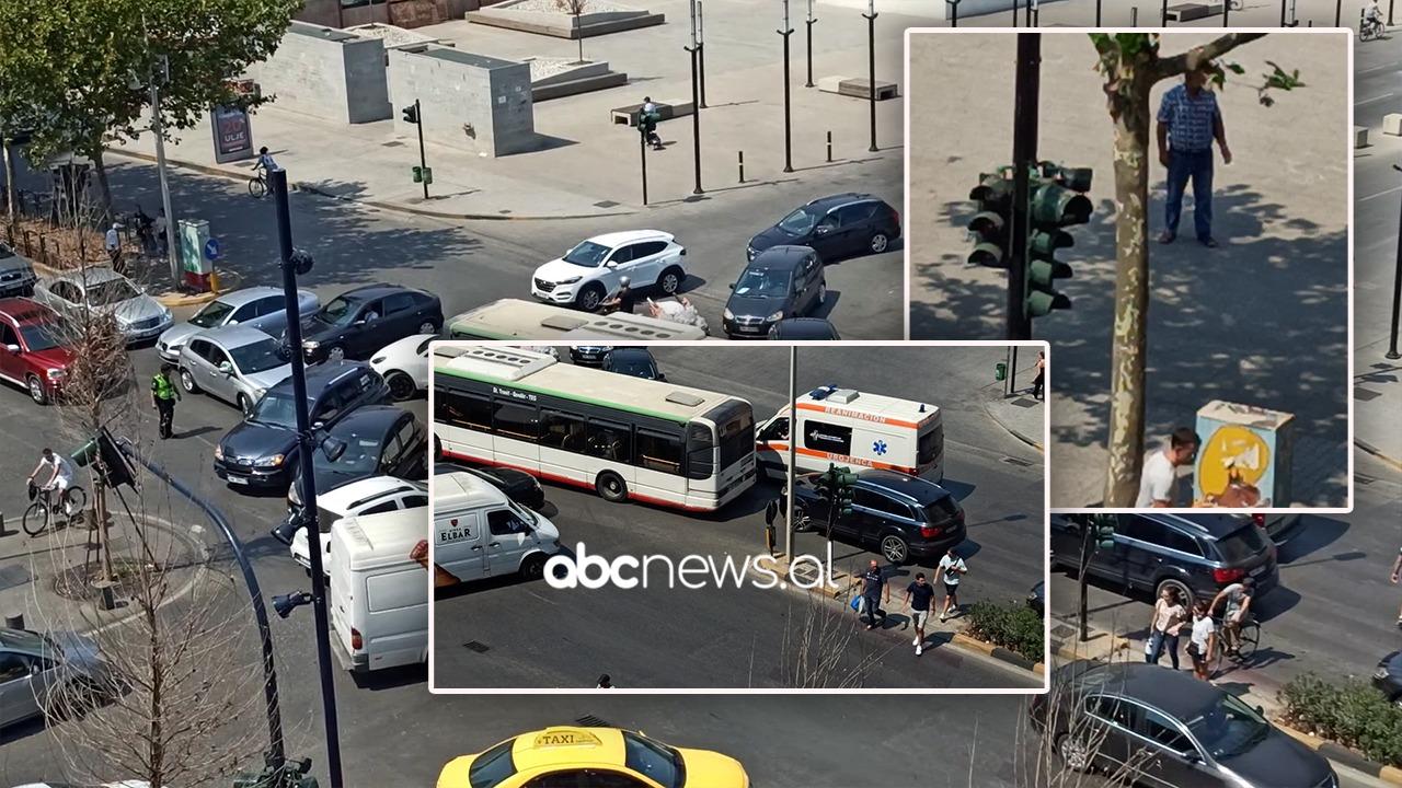Kolaps tek ish-Stacioni i Trenit, semaforët jashtë funksionit, bllokohet edhe ambulanca