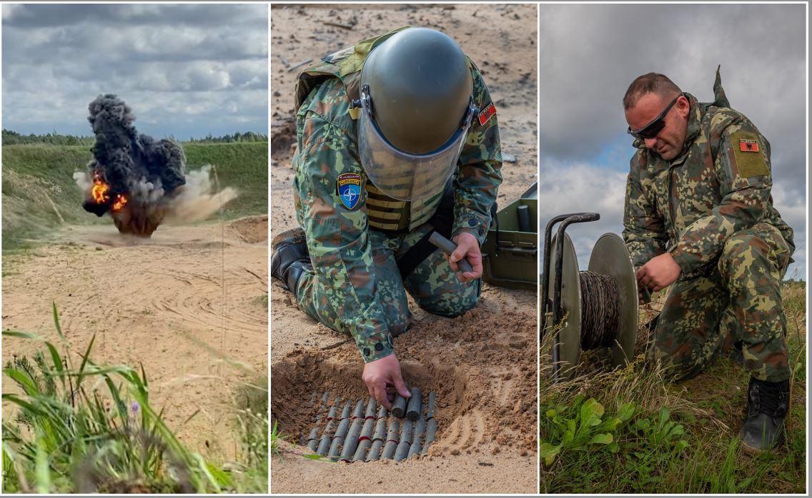 NATO publikon pamjet e ushtarëve shqiptarë gjatë stërvitjes në Letoni