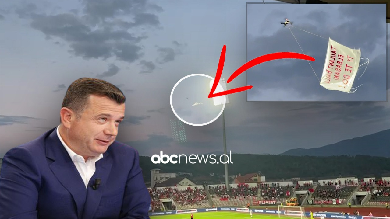 Surpriza, ngrihet droni mbi stadium: Taulant Balla, Elbasani ty të do - Abc News