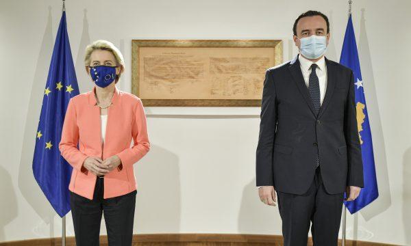 Detajet, për çfarë bisedoi Kurti me presidenten e Komisionit Evropian