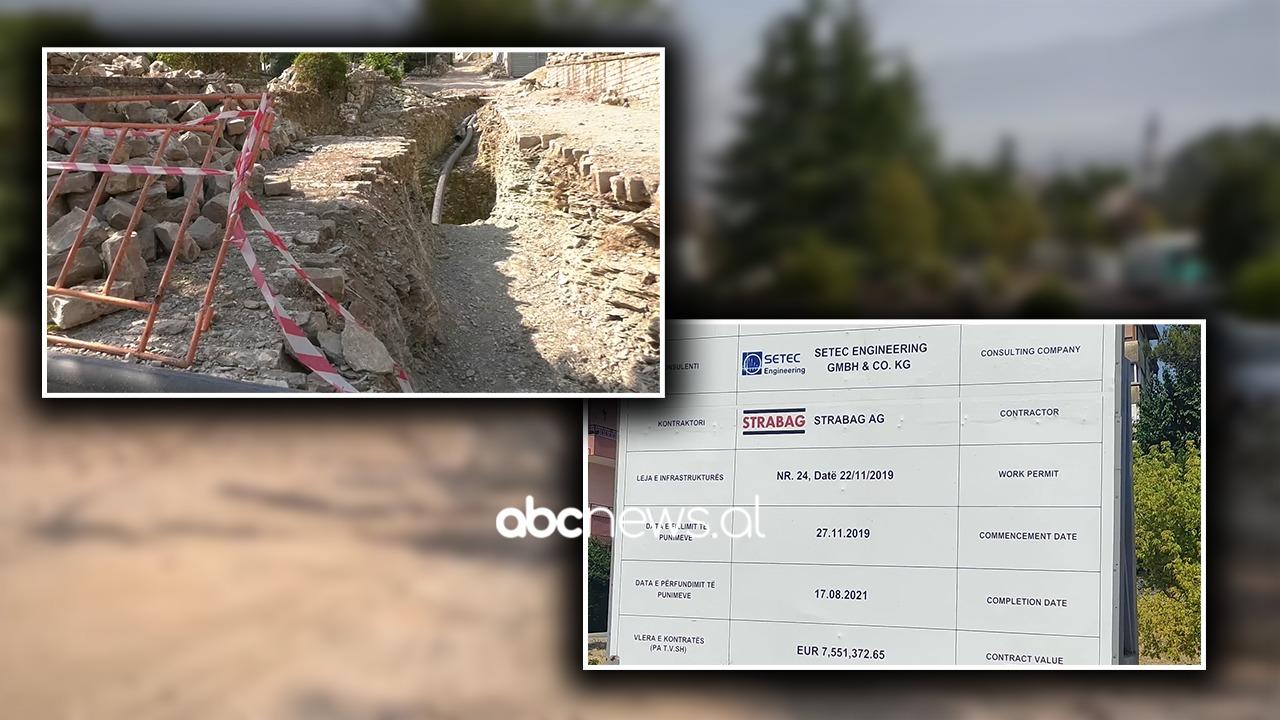 """""""Strabag"""" nuk përfundon në kohë ujësjellësin e Gjirokastrës"""