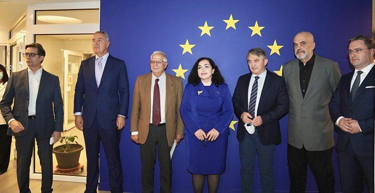 Borrell takohet me udhëheqësit e Ballkanit: Të angazhohemi më fort për anëtarësimin