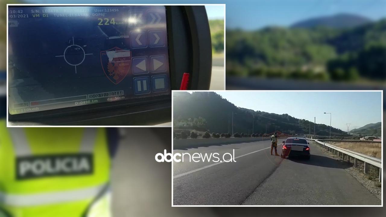 """Audi me 224 km/h, """"rrugorja"""" kontrolle në Elbasan,  pezullohen 10 patenta"""