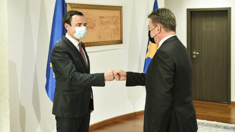 Kurti pas takimit me Lajçak: Në dialog Kosova është palë e barabartë, duhet të pranohet realiteti