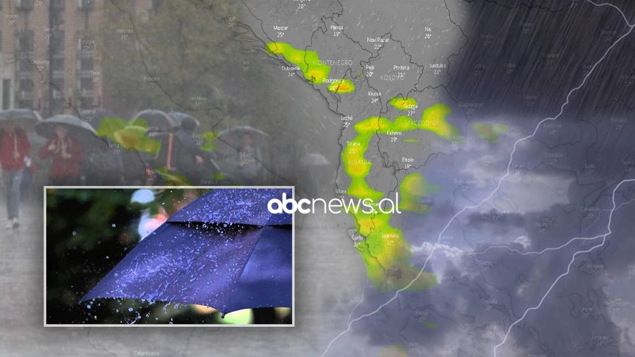 Ora kur pritet të fillojë stuhia: Nesër shira të dendur dhe rrufe, zonat me rrezik