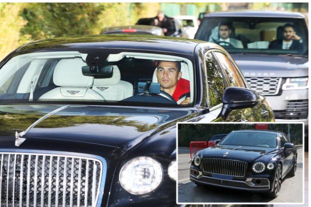 FOTO/ Ronaldo mbërrin në stërvitjen e Man United me Bentley 250 mijë paund, ndiqet nga dy roje private