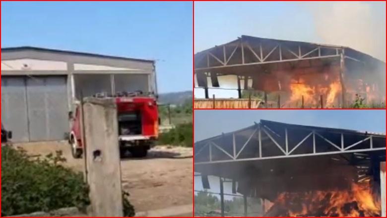 Zjarr në një ndërtesë skrapi, lëndohen dy punonjës
