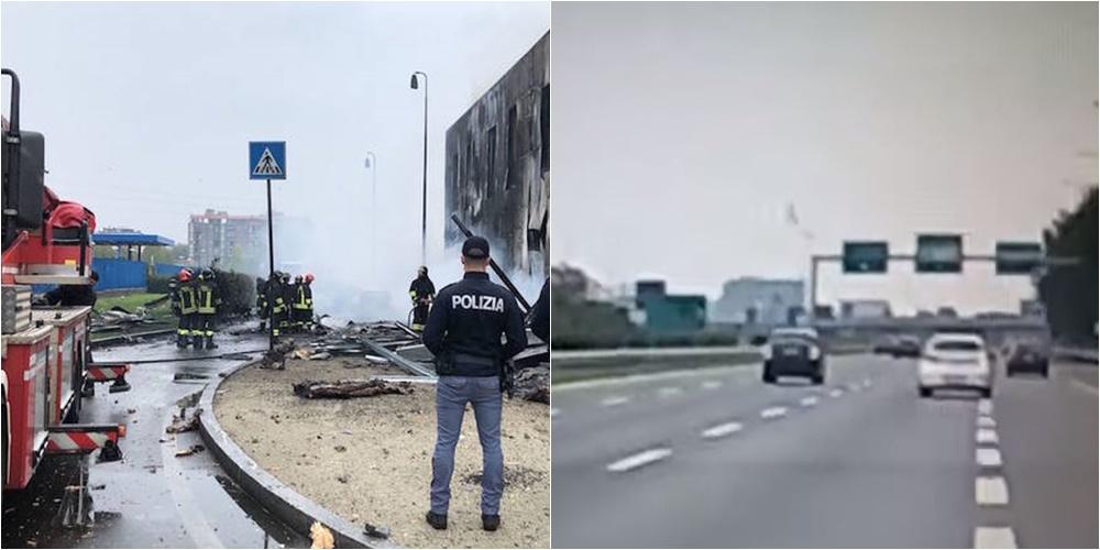 Dalin pamjet nga aksidenti me 8 viktima, ky është momenti kur rrëzohet aeroplani në Milano
