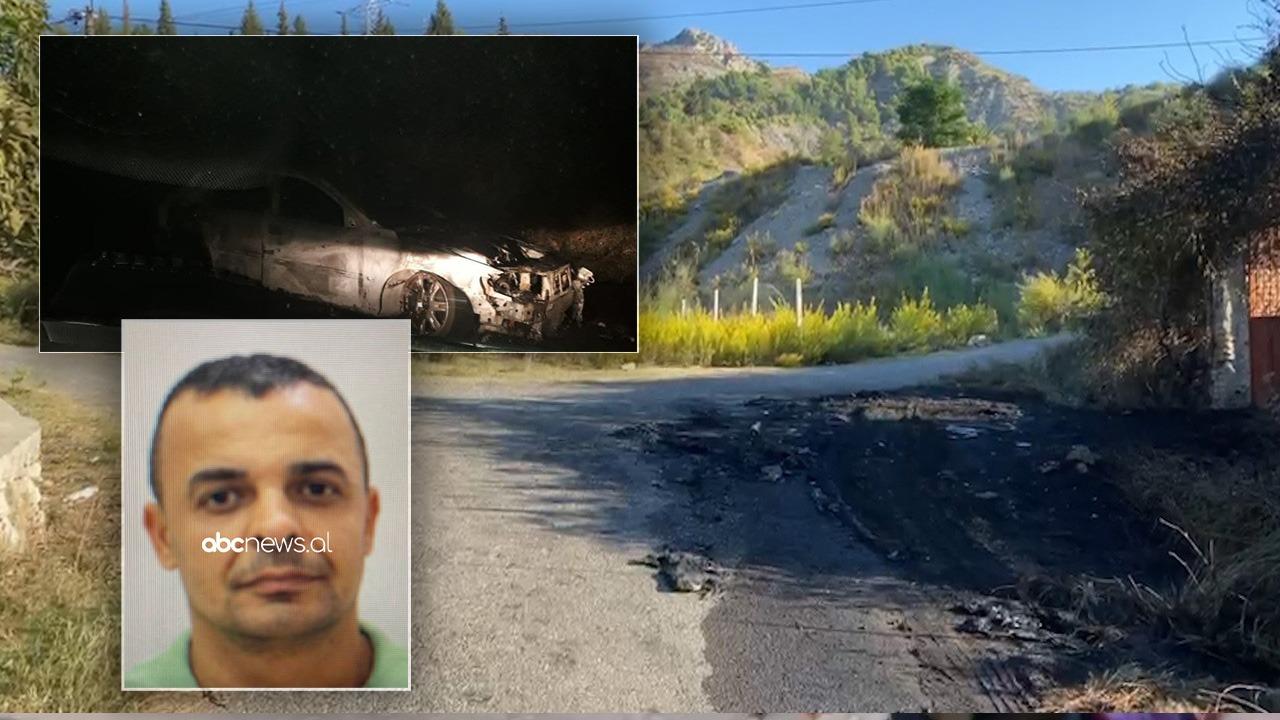 """Ekzekutimi i dyfishtë në Elbasan, gjenden në """"Volvo-n"""" e djegur armët e krimit: Kallashnikov dhe """"Scorpions"""""""